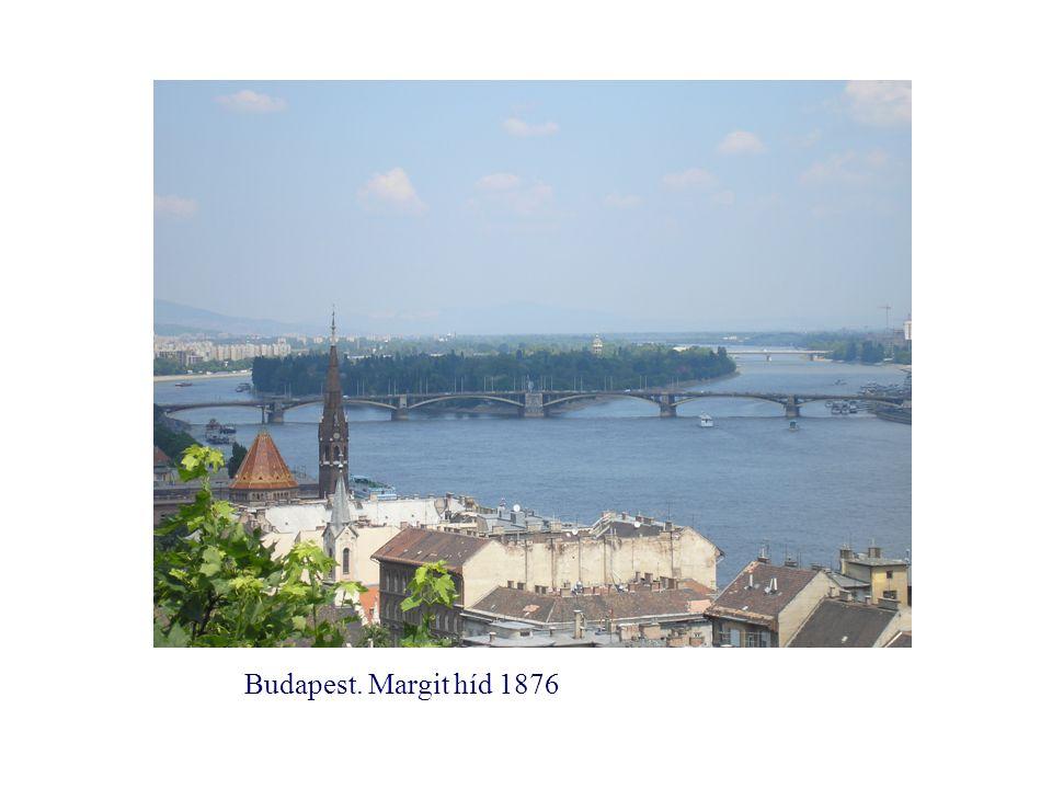 Budapest. Margit híd 1876