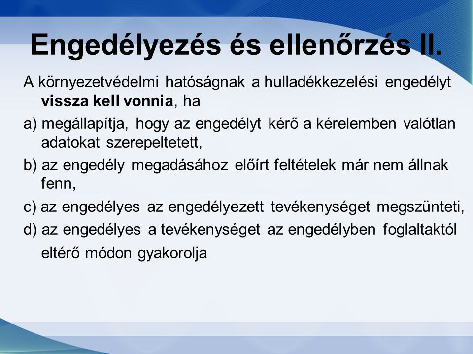 Engedélyezés és ellenőrzés II.