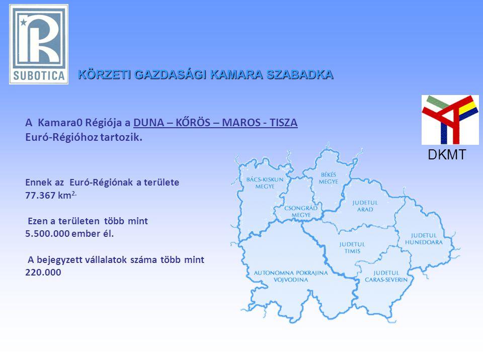 KÖRZETIGAZDASÁGI KAMARA SZABADKA KÖRZETI GAZDASÁGI KAMARA SZABADKA A Kamara0 Régiója a DUNA – KŐRÖS – MAROS - TISZA Euró-Régióhoz tartozik.
