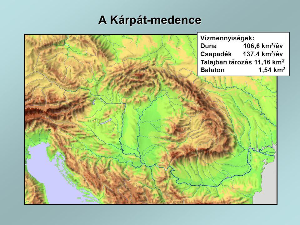 Éves átlagos csapadék 580 mm Éves átlaghőmérséklet 11 o C Tengerszint feletti magasság 78-1014 m Vegetációs idő hőösszege 1280-1465 o C Szárazanyag termelés 8,3-17,6 t/ha/év Fotoszintetikusan aktív sugárzás 1518-1612 MJ/m 2 Hóborított napok száma 41 nap/év Klimatikus adottságok Magyarország havi átlaghőmérsékleti adatai ( o C) Magyarország havi átlag csapadék adatai (mm)