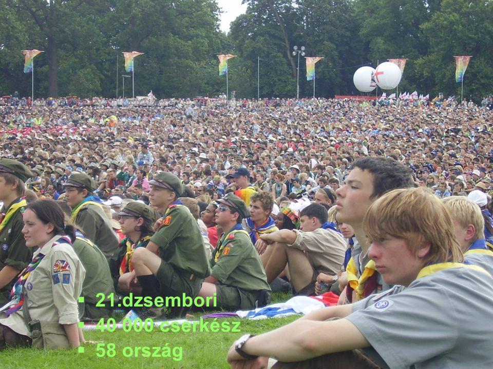   21.dzsembori   40 000 cserkész   58 ország