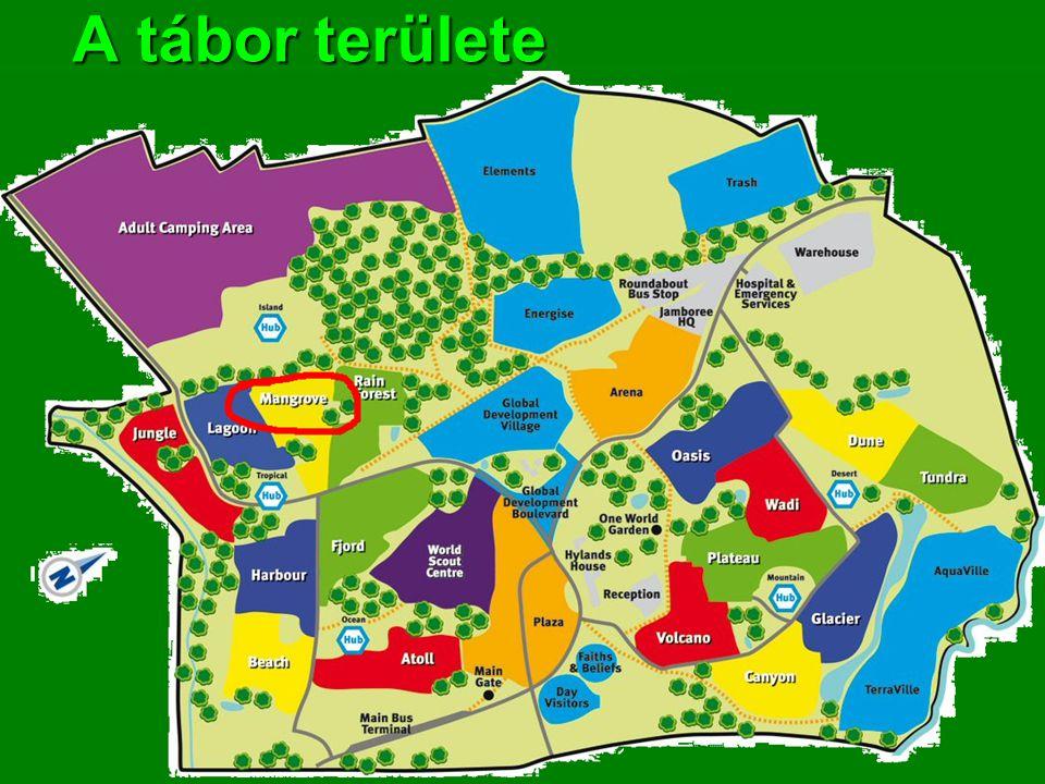 A tábor területe