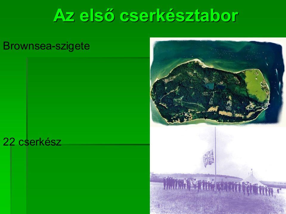 Az első cserkésztabor Brownsea-szigete 22 cserkész