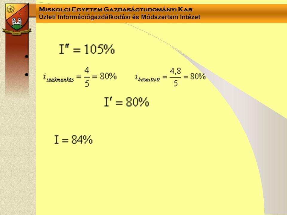 Miskolci Egyetem Gazdaságtudományi Kar Üzleti Információgazdálkodási és Módszertani Intézet ••••