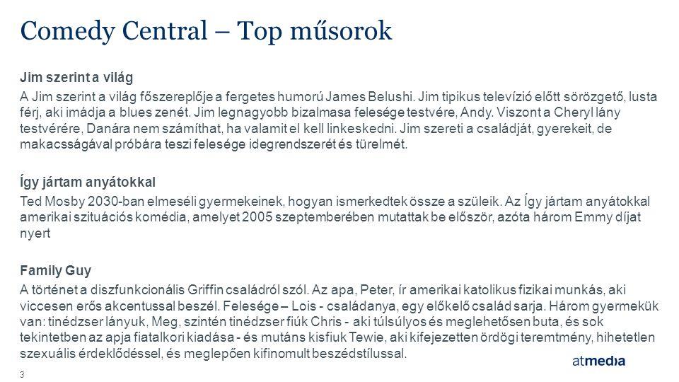 Comedy Central – Top műsorok Jim szerint a világ A Jim szerint a világ főszereplője a fergetes humorú James Belushi.