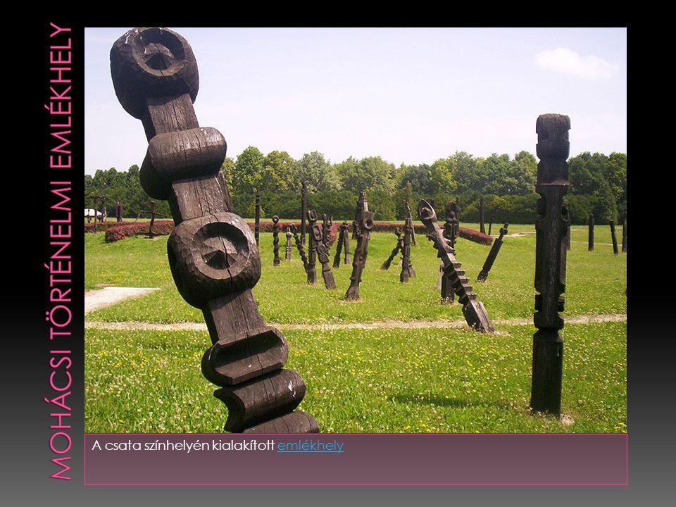 A csata színhelyén kialakított emlékhelyemlékhely