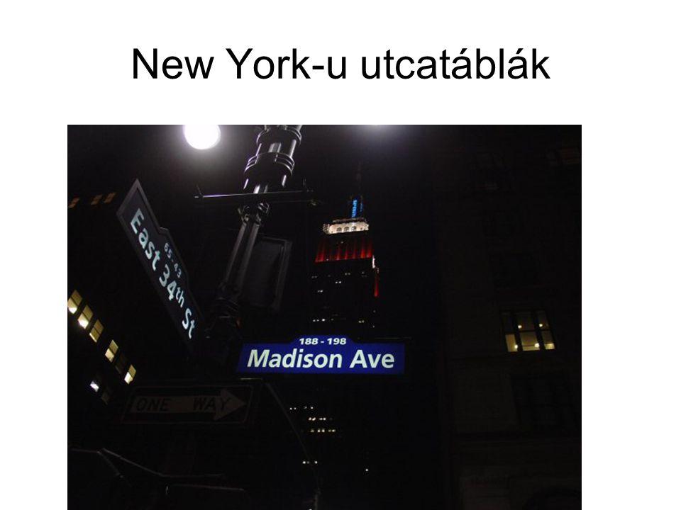 New York-u utcatáblák