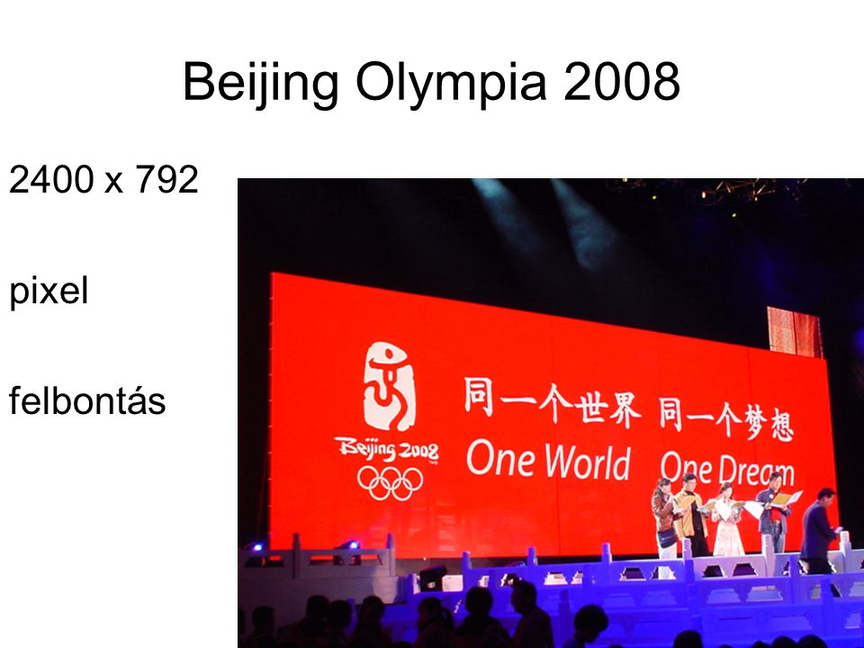 Beijing Olympia 2008 2400 x 792 pixel felbontás