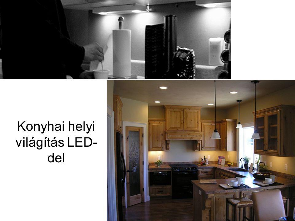 Konyhai helyi világítás LED- del