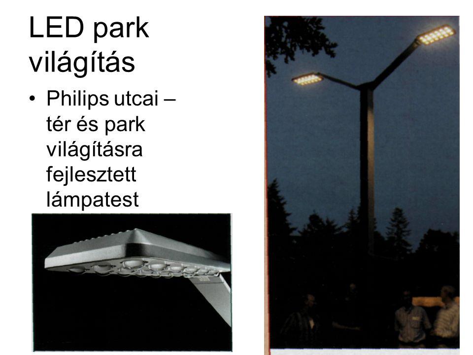 LED park világítás •Philips utcai – tér és park világításra fejlesztett lámpatest