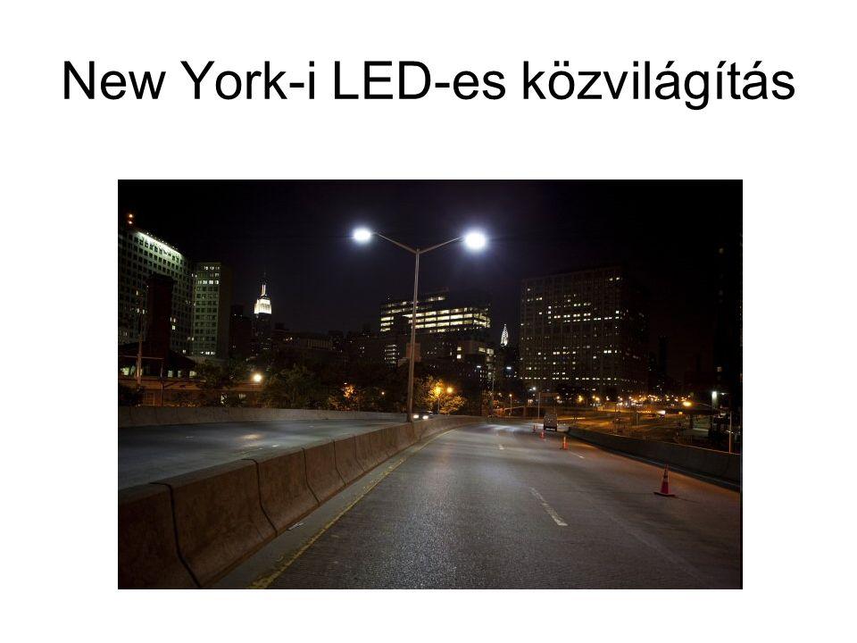 New York-i LED-es közvilágítás