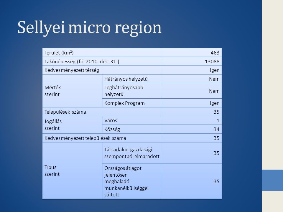 Sellyei micro region