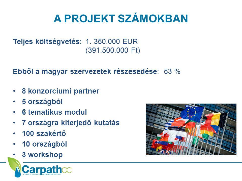 KONZORCIUMI PARTNEREK Magyar projektvezetés • REC – Regionális Környezetvédelmi Központ – vezető partner • AQUAPROFIT Zrt.