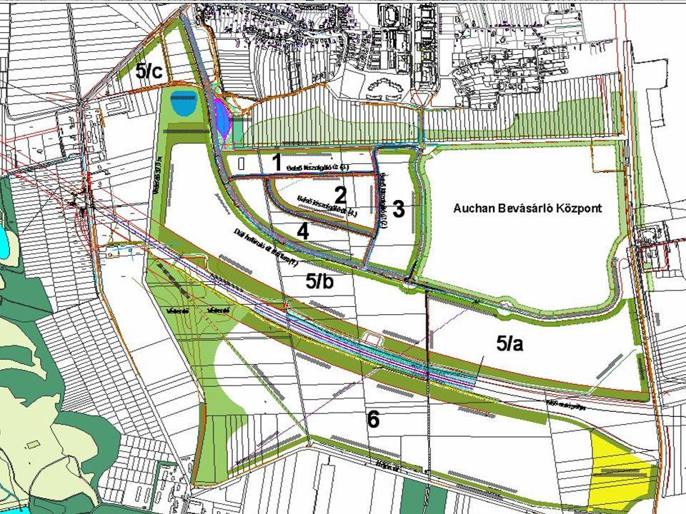 80 Ha terület  egyedi igényeknek megfelelően kialakítható telekméret 2500 m2 nagyságtól  közművesített, kapacitás- szükséglet igény szerint alakítható Kereskedelmi Park-30 Ha  Auchan kereskedelmi parkot kiegészítő, elsődlegesen kereskedelmi célra ajánlott területek Logisztikai Park - 70 Ha  elsődlegesen logisztikai célra ajánlott területek  alkalmas nagyobb terület igényű beruházások, ipari létesítmények kialakítására Auchan Retail Park