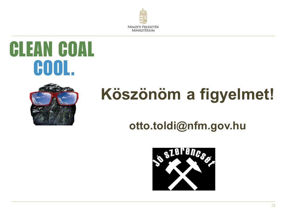 23 Köszönöm a figyelmet! otto.toldi@nfm.gov.hu