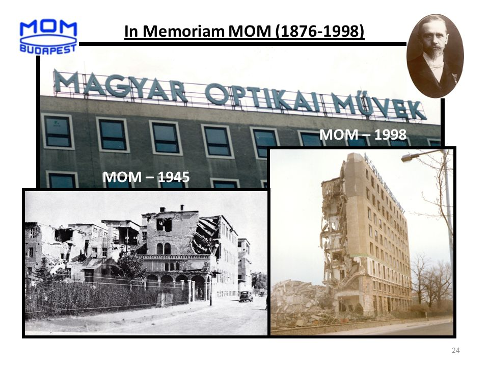 24 MOM – 1945 MOM – 1998 In Memoriam MOM (1876-1998)