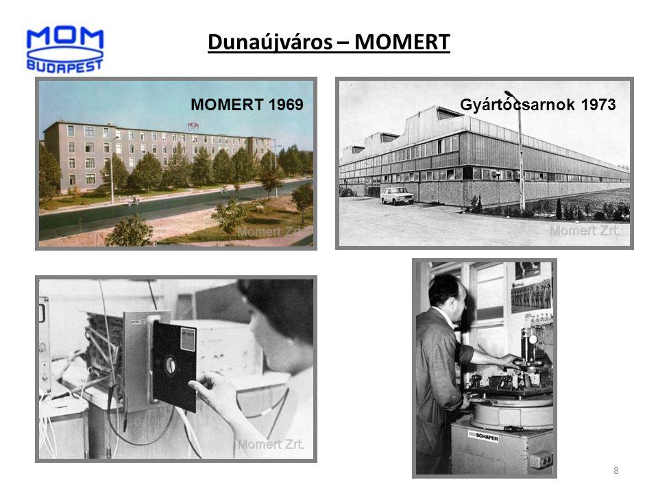 8 MOMERT 1969Gyártócsarnok 1973 Dunaújváros – MOMERT