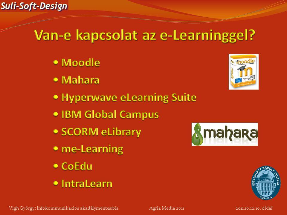 10. oldal Vigh György: Infokommunikációs akadálymentesítés Agria Media 2011 2011.10.12.