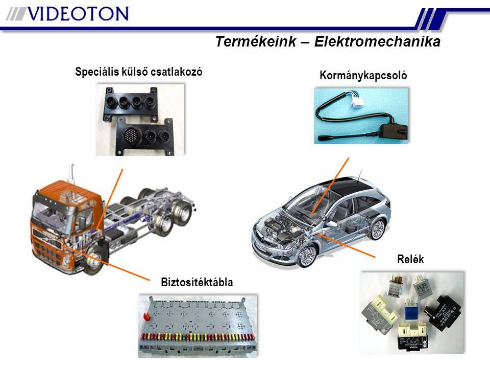 Termékeink – Elektromechanika Speciális külső csatlakozó Relék Biztosítéktábla Kormánykapcsoló