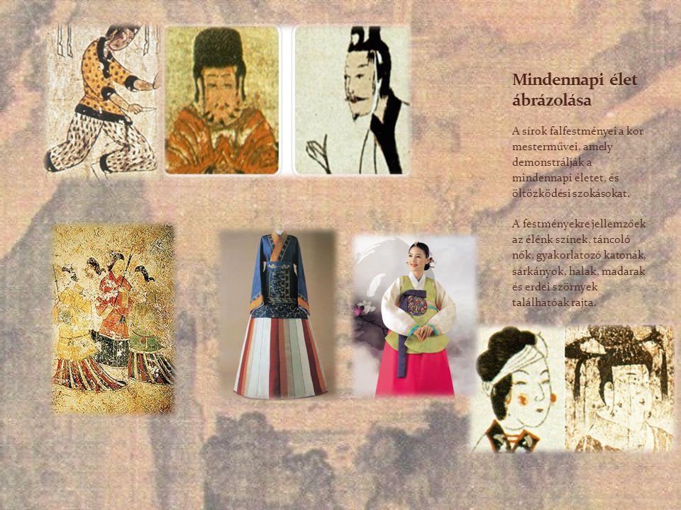 A sírok falfestményei a kor mesterművei, amely demonstrálják a mindennapi életet, és öltözködési szokásokat. A festményekre jellemzőek az élénk színek