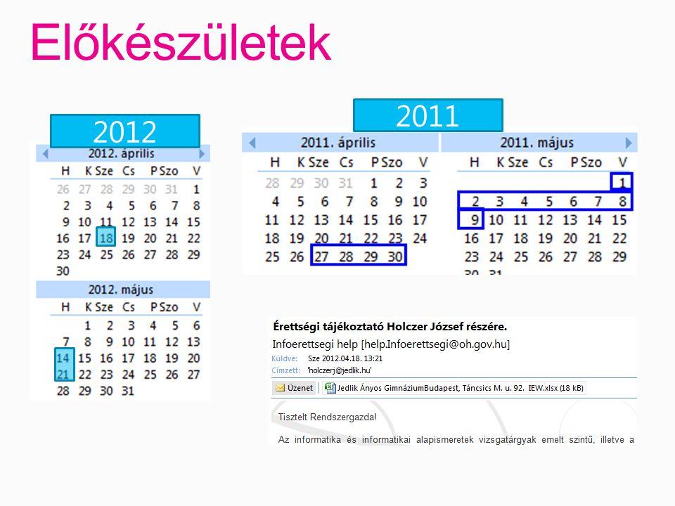 Előkészületek 20122011