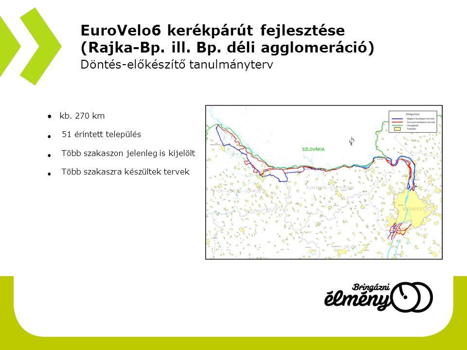 EuroVelo6 kerékpárút fejlesztése (Rajka-Bp.ill. Bp.