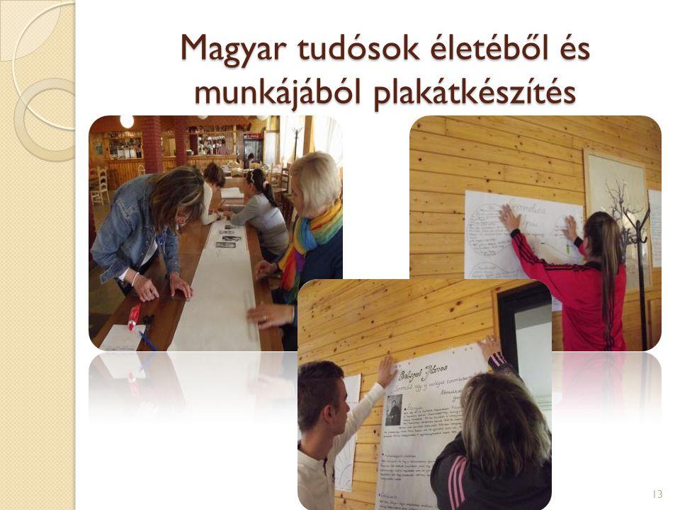 Magyar tudósok életéből és munkájából plakátkészítés 13