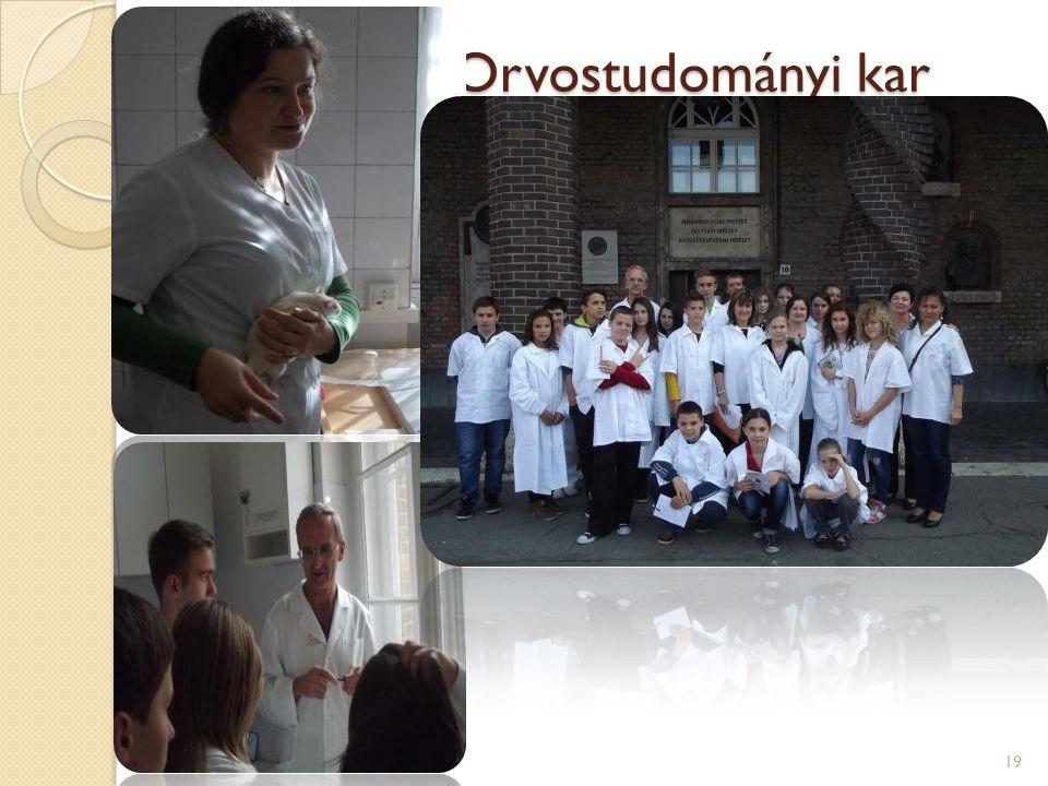 A SZTE Orvostudományi kar Népegészségtani Intézet dr.