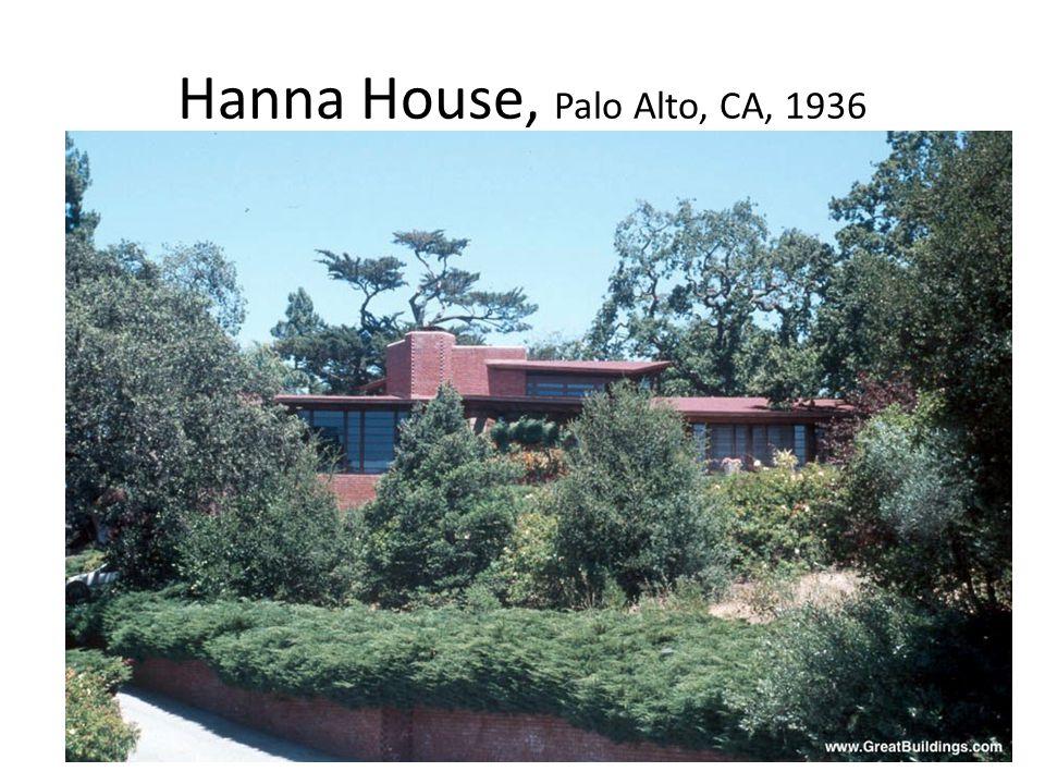 Hanna House, Palo Alto, CA, 1936