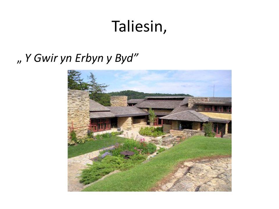 """Taliesin, """" Y Gwir yn Erbyn y Byd"""
