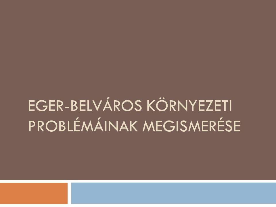 EGER-BELVÁROS KÖRNYEZETI PROBLÉMÁINAK MEGISMERÉSE