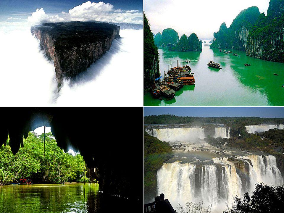 A TERMÉSZET 7 ÚJ CSODÁI A KÖVETKEZŐEK: Dél-Amerika, Amazonasz ő s erd ő A Vietnami Halong öböl Argentína, Iguazu vízesés Dél-Korea Jeju sziget Indonézia, Komodo Nemzeti Park Fülöp-szigetek Puerto Princesa földalatti folyó Dél Afrikai táblás hegység
