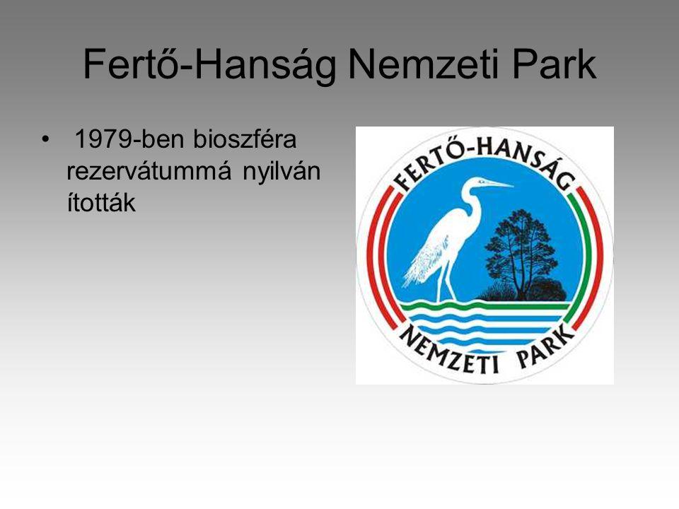 Fertő-Hanság Nemzeti Park • 1979-ben bioszféra rezervátummá nyilván ították