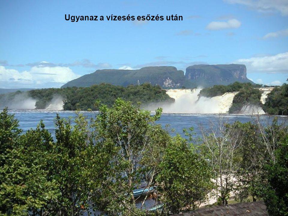 Isten tenyerén! A Hacha vízesés a Canaima nemzeti parkban. Venezuela