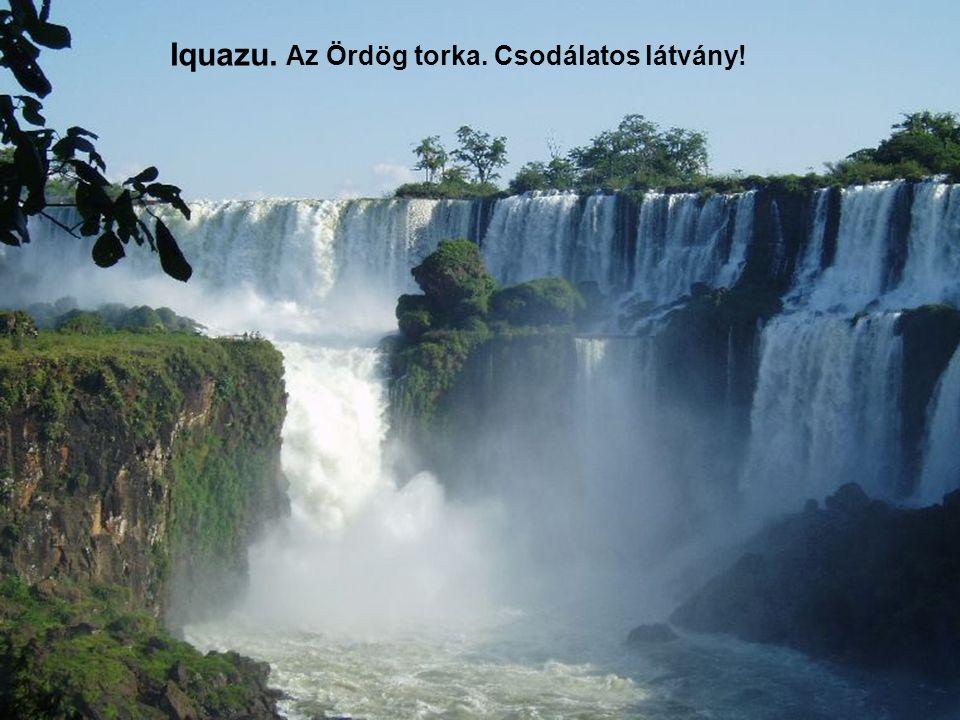 Argentína és a Brazil határnál van az Iquazu vízesés csoport. Ezt látni kell!