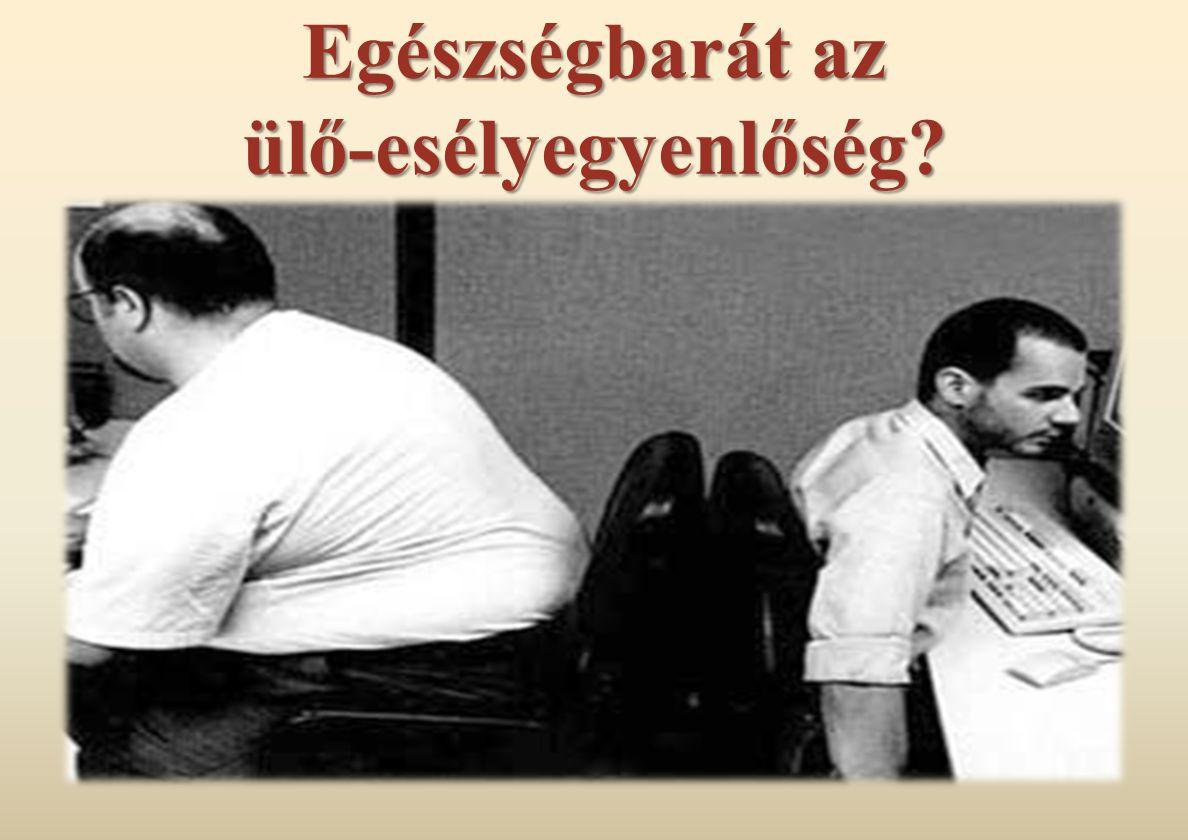 Egészségbarát az ülő-esélyegyenlőség?