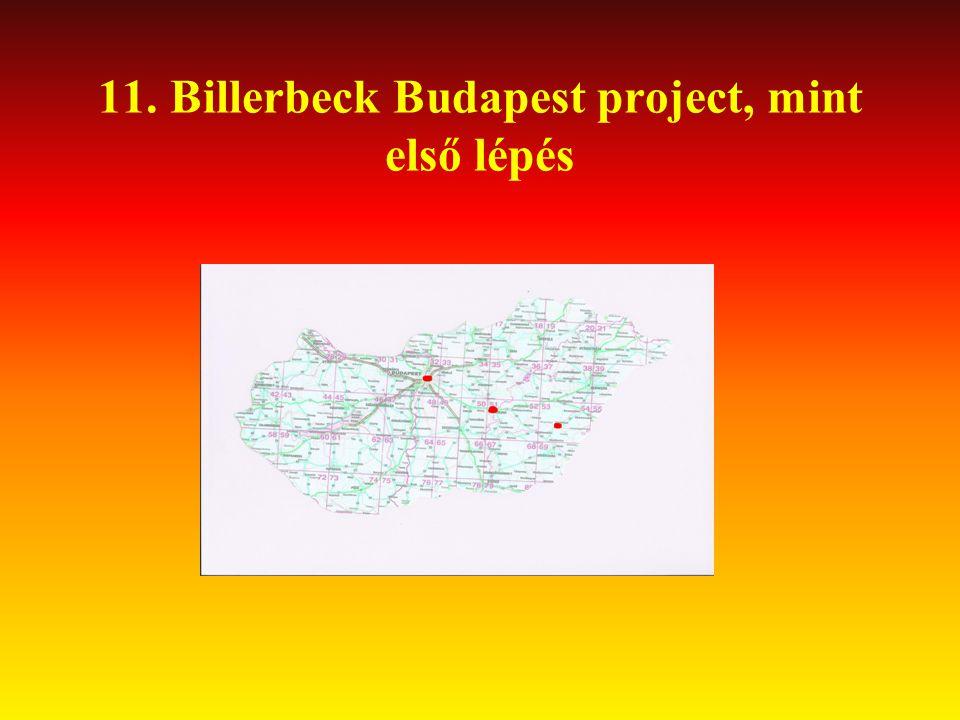 11. Billerbeck Budapest project, mint első lépés