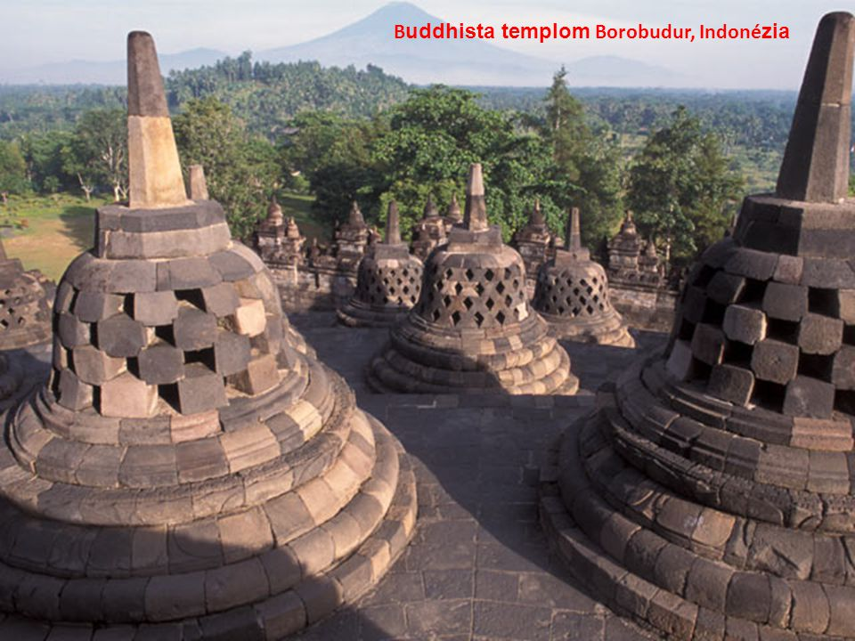 B uddhista templom Borobudur, Indoné zia