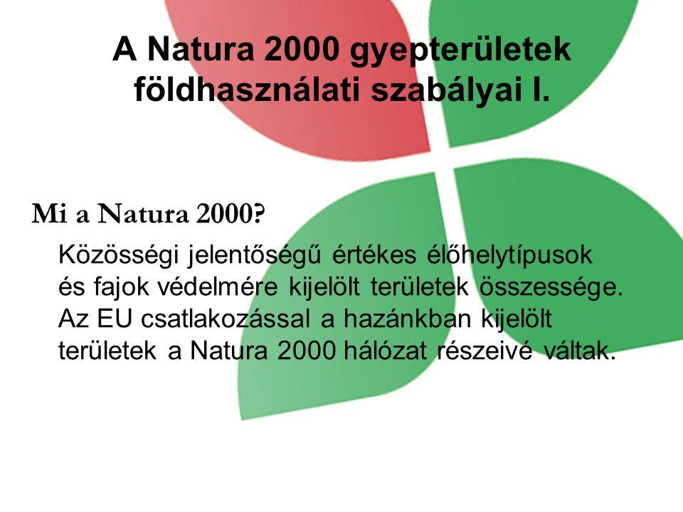 A Natura 2000 gyepterületek földhasználati szabályai I.