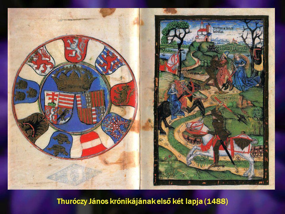 Thuróczy János krónikájának első két lapja (1488)