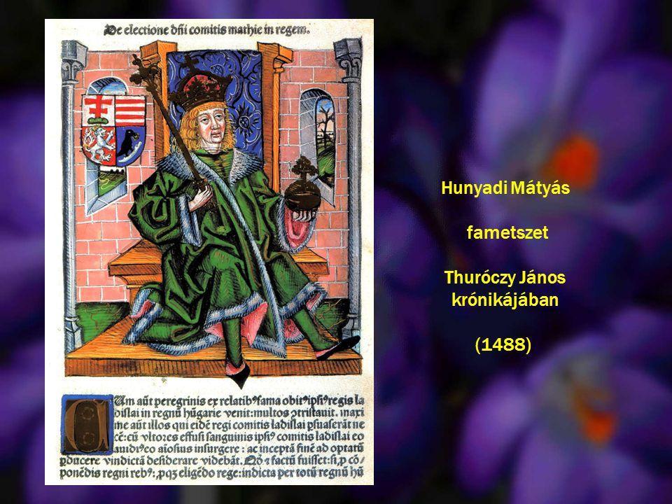 Hunyadi Mátyás fametszet Thuróczy János krónikájában (1488)