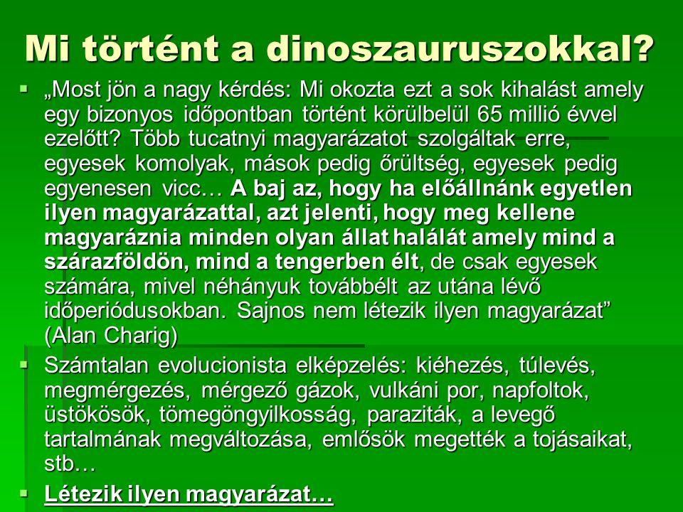 Mi történt a dinoszauruszokkal.