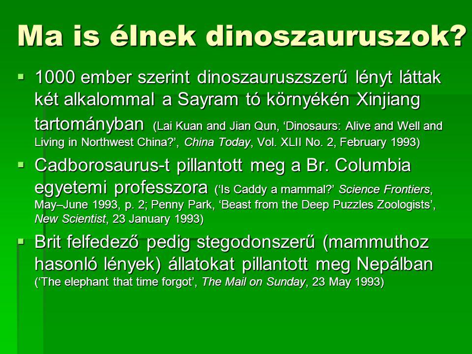 Ma is élnek dinoszauruszok.