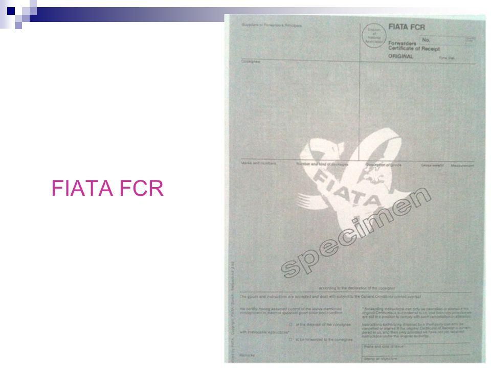 FIATA FCR