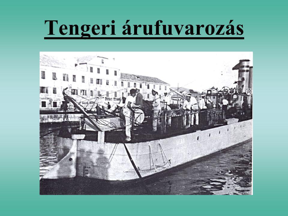 Tengeri hajózás A kontinenseket összekötő tengereken és óceánokon kialakult fuvarozási ágazat.