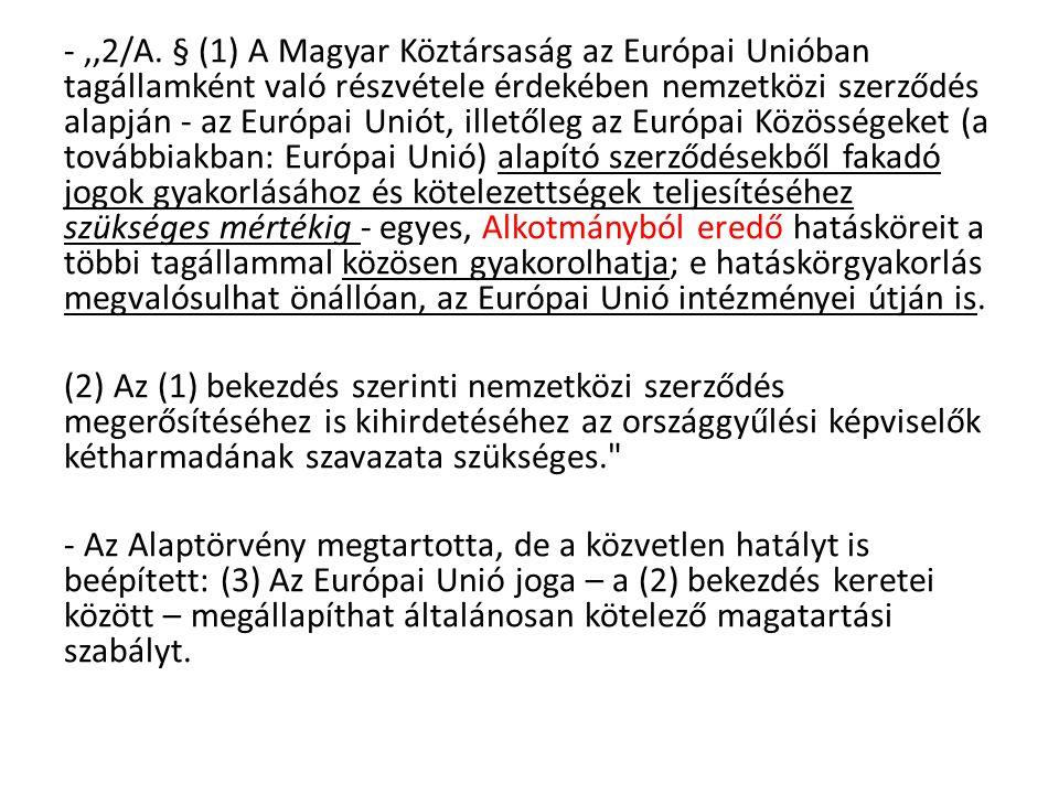 3.Záróokmány: -Uniós politikánként végigveszik a Szerződés egyes rendelkezéseit.