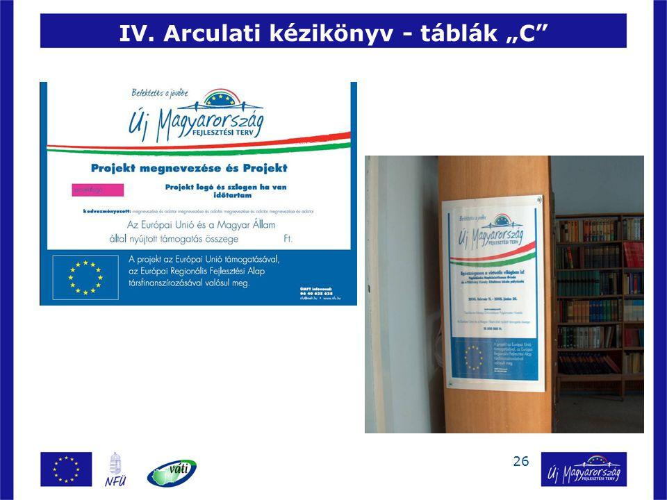 """26 IV. Arculati kézikönyv - táblák """"C"""
