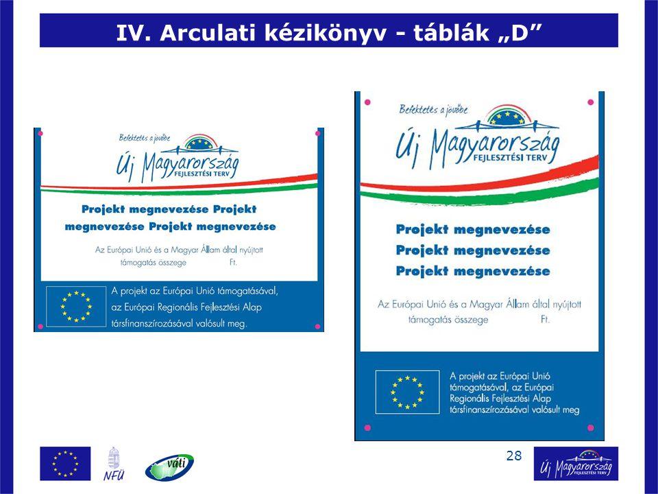 """28 IV. Arculati kézikönyv - táblák """"D"""