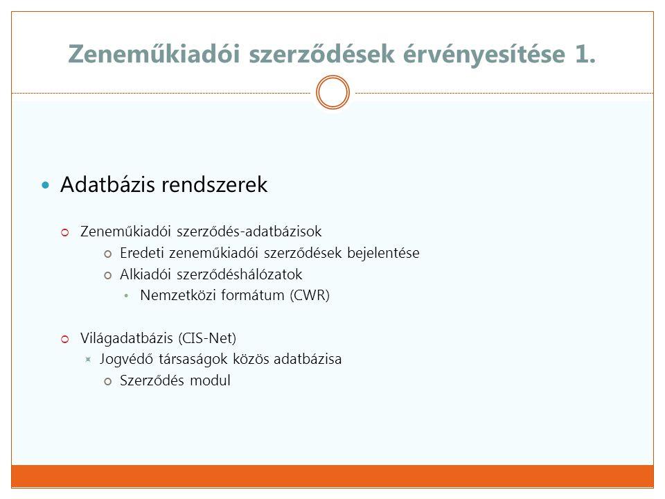 Zeneműkiadói szerződések érvényesítése 2.
