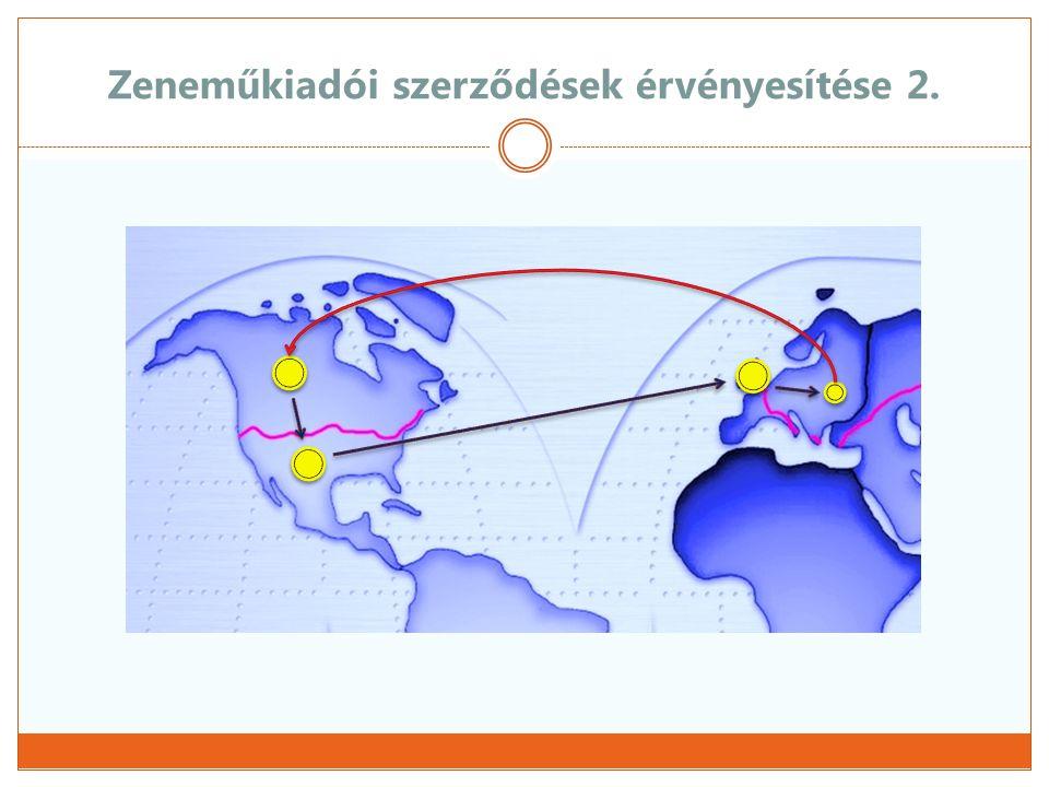 Kapcsolattartás, egyeztető fórumok  Nemzetközi szintű megbeszélések  CISAC – IMPA/ICMP megbeszélések  Szakmai munkacsoportok  ARTISJUS – zeneműkiadók közötti egyeztetések  Elektronikus elszámoló állományok  Külön csoport a Zeneműkiadói szerződés feldolgozására  Éves megbeszélések, szakmai egyeztetések